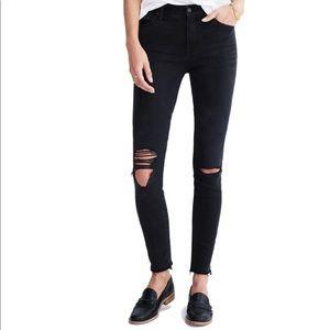 Madewell high riser skinny jeans Black Sea 26